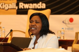 Ellen Nanuses addressing the SABA general meeting in Kigali